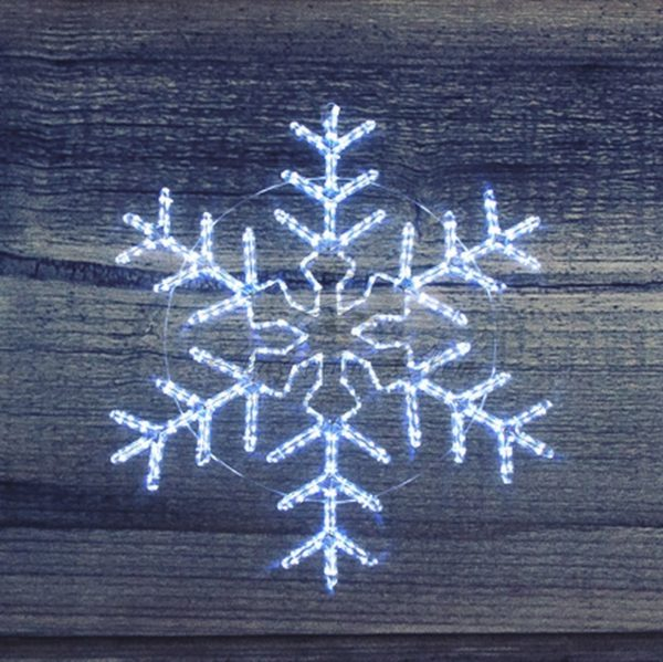 """Фигура световая """"Снежинка"""" цвет белый, без контр. размер 55*55см  NEON-NIGHT 4"""