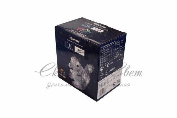 """Акриловая светодиодная фигура """"Белка"""" 17,5х12х18 см, 4,5 В, 3 батарейки AAA (не входят в комплект), 12 светодиодов, NEON-NIGHT 2"""