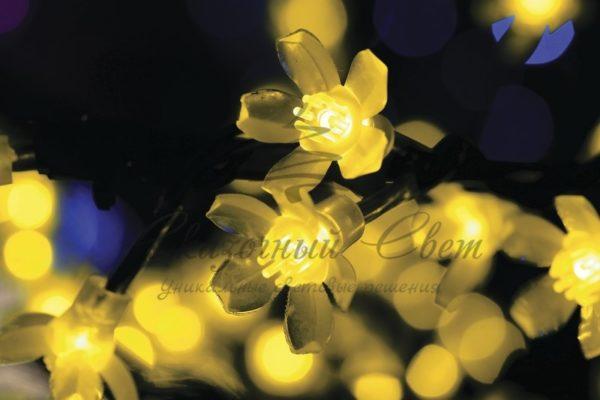 """Светодиодное дерево """"Сакура"""" высота 1,5м, диаметр кроны 1,8м, желтые светодиоды, IP 54, понижающий трансформатор в комплекте, NEON-NIGHT 1"""
