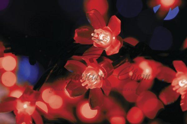 """Светодиодное дерево """"Сакура"""", высота 1,5м, диаметр кроны 1,8м, красные светодиоды, IP 54, понижающий трансформатор в комплекте, NEON-NIGHT 1"""
