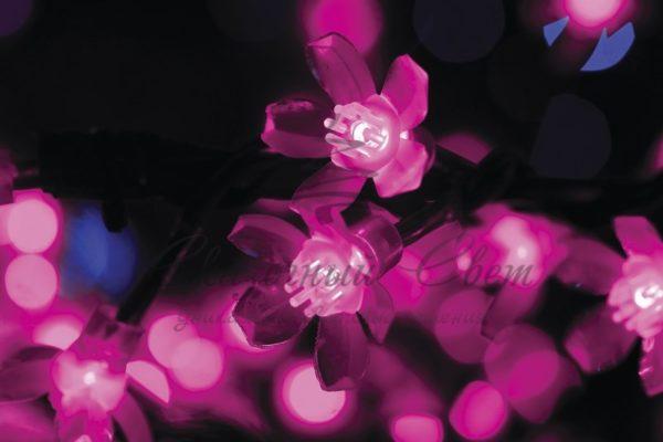 """Светодиодное дерево """"Сакура"""", высота 1,5м, диаметр кроны 1,8м, фиолетовые светодиоды, IP 54, понижающий трансформатор в комплекте, NEON-NIGHT 1"""