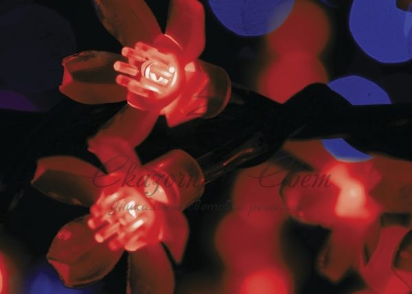 """Светодиодное дерево """"Сакура"""", высота 3,6м, диаметр кроны3,0м, красные светодиоды, IP 54, понижающий трансформатор в комплекте, NEON-NIGHT 1"""