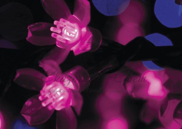 """Светодиодное дерево """"Сакура"""", высота 3,6м, диаметр кроны 3,0м, фиолетовые светодиоды, IP 54, понижающий трансформатор в комплекте, NEON-NIGHT 1"""