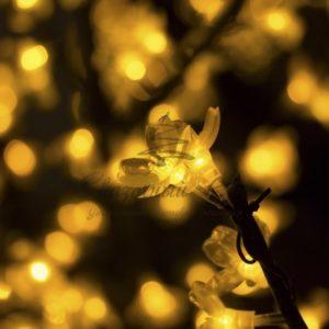 Светодиодное дерево «Сакура», высота 1,5 м, диаметр кронны 1,3м, желтые диоды, IP 44, понижающий трансформатор в комплекте, NEON-NIGHT