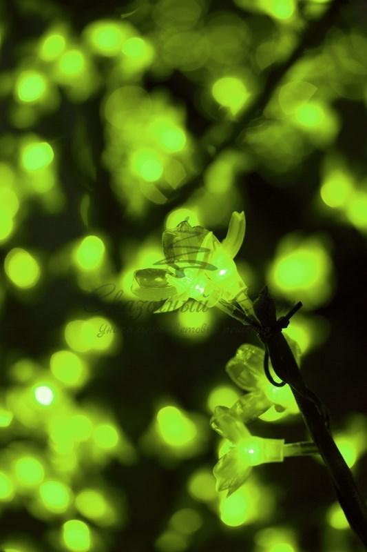 """Светодиодное дерево """"Сакура"""", высота 1,5 м, диаметр кроны 1,3м, зеленые диоды, IP 44, понижающий трансформатор в комплекте, NEON-NIGHT 2"""