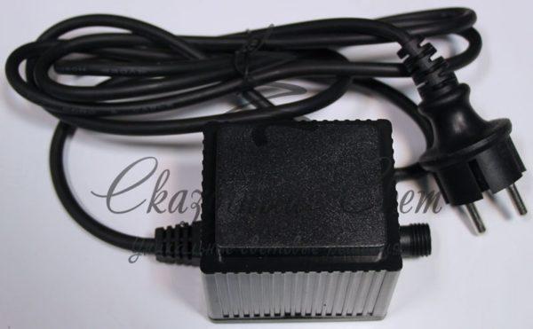 Блок питания для изделий Rich LED с постоянным свечением. Возможно соединить до 20-ти шт, 220 В, 2А, черный