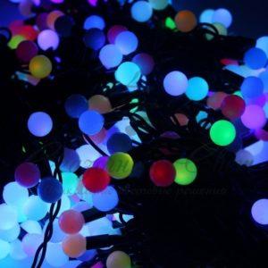 Гирлянда «LED ClipLight — МУЛЬТИШАРИКИ» 24V, 3 нити по 20 м, свечение с динамикой, цвет диодов RGB