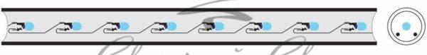 Дюралайт LED, постоянное свечение (2W) - синий, 24 LED/м, Ø10мм, бухта 100м 1