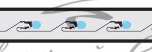 Дюралайт LED, эффект мерцания (2W) — синий, 36 LED/м, бухта 100м