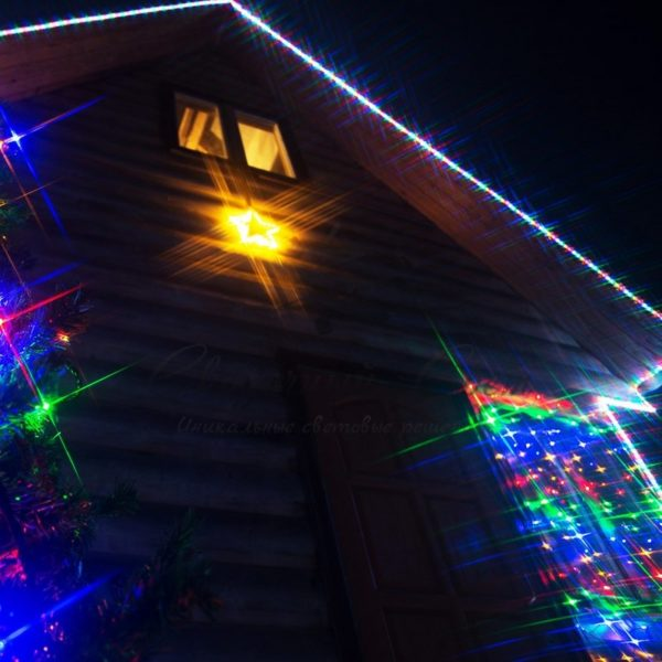 Дюралайт LED, свечение с динамикой (3W), 24 LED/м, МУЛЬТИ (RYGB), 14м 5