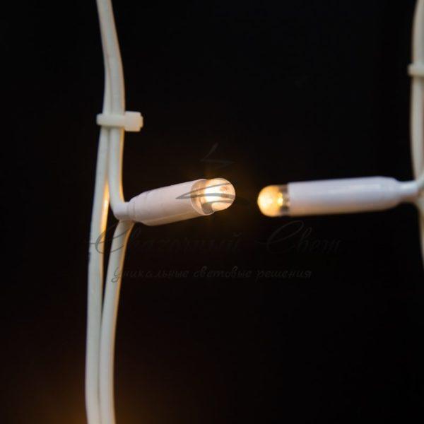 """Гирлянда """"Светодиодный Дождь"""" 2х3м, постоянное свечение, белый провод """"КАУЧУК"""", 230 В, диоды БЕЛЫЕ, 760 LED 1"""