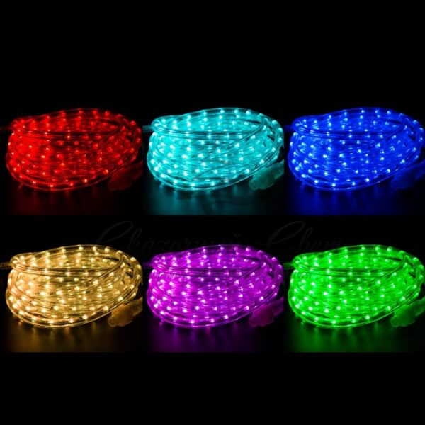Дюралайт LED, свечение с динамикой (2W) - RGB Ø13мм, 36LED/м, 6м 1