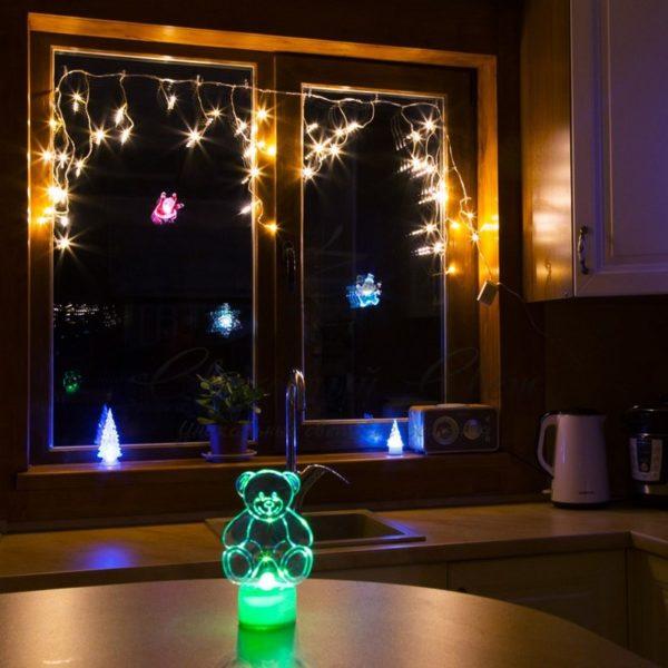 Гирлянда Айсикл (бахрома) светодиодная, 1,8 х 0,5 м, прозрачный провод, 230 В, диоды тепло-белые 2