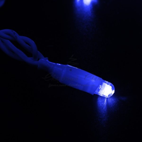 Гирлянда Нить 10м, с эффектом мерцания, белый ПВХ, 24В, цвет: Синий 2