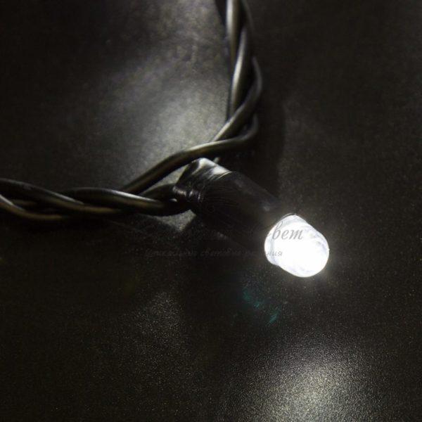 Гирлянда Нить 10м, с эффектом мерцания, черный ПВХ, 24В, цвет: Белый 2