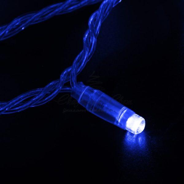 Гирлянда Нить 10м, эффект мерцания (каждый 5-ый), прозрачный ПВХ, 230В, цвет: Синий 2