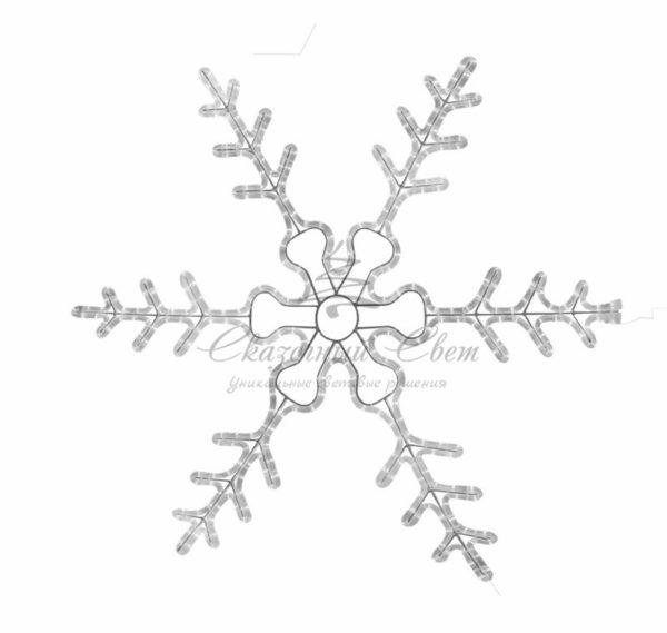 """Фигура световая """"Снежинка резная"""" цвет белый, размер  45*38 см  NEON-NIGHT 1"""