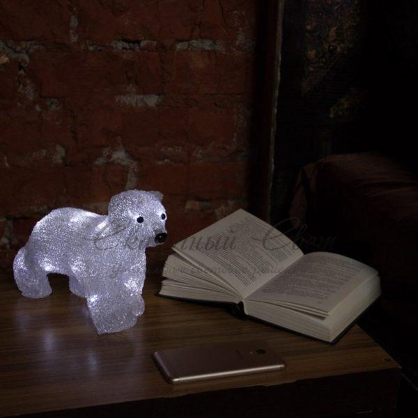 """Акриловая светодиодная фигура """"Медвежонок"""" 24х11х18 см, 4,5 В, 3 батарейки AA (не входят в комплект), 16 светодиодов, NEON-NIGHT 1"""