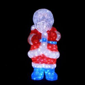 Дед Мороз 3D, 408 светодиодов, размер 66х30см, 24В