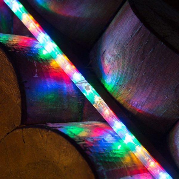Дюралайт LED, свечение с динамикой (3W) - мульти (RYGB), 24 LED/м, бухта 100м 1