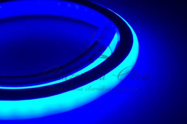 Гибкий Неон LED 360 (круглый) - синий, бухта 50м