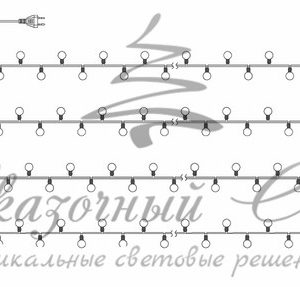 Гирлянда «Мультишарики» 17,5мм, Ø23мм, Ø17,5мм, Ø45мм 10м черный ПВХ, 80 диодов, цвет RGB