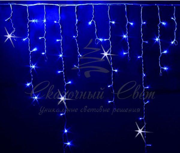 Светодиодная бахрома Rich LED 3x0.9 м МЕРЦАЮЩАЯ, черный провод, Синяя