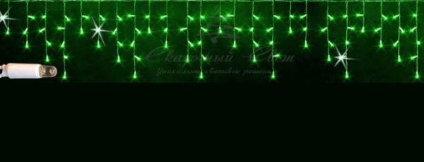 Светодиодная бахрома Rich LED 3x0.9 м МЕРЦАЮЩАЯ, IP65, герметичный колпачок белый провод, Зеленая