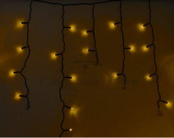 Гирлянда Айсикл (бахрома) светодиодный, 4,8 х 0,6 м, черный провод, 230 В, диоды тёпло-белые, 176 LED NEON-NIGHT