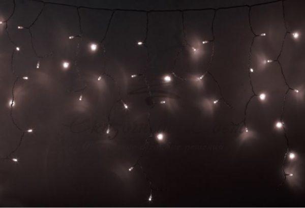 Гирлянда Айсикл (бахрома) светодиодный, 2,4 х 0,6 м, прозрачный провод, 230 В, диоды тёпло-белые,  88 LED NEON-NIGHT