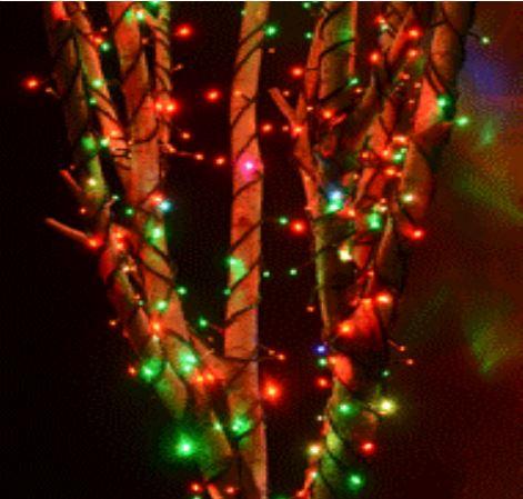 Светодиодная гирлянда Rich LED Хамелеон RGB, черный провод, 3 Нити по 20 м