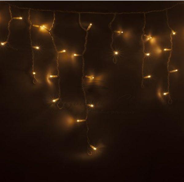 Гирлянда Айсикл (бахрома) светодиодный, 2,4 х 0,6 м, белый провод, 230 В, диоды тепло-белые, 88 LED NEON-NIGHT