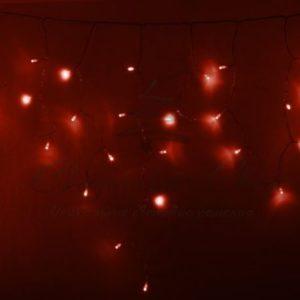 Гирлянда Айсикл (бахрома) светодиодный, 4,8 х 0,6 м, прозрачный провод, 230 В, диоды красные,  176 LED NEON-NIGHT