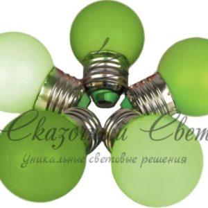 Светодиодная лампа для Белт-лайта, 1 Вт, d=45 мм, зеленая, цокольЕ-27