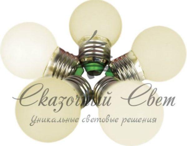 Светодиодная лампа для Белт-лайта, 1 Вт, d=45 мм, теплая белая, цоколь Е-27
