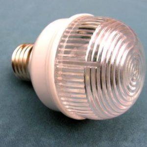 Строб-лампа для Белт-лайта 12 Вт, d=40 мм, белая, цоколь Е-27