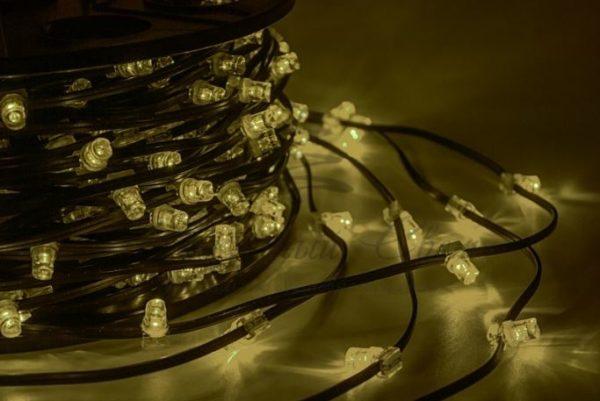 "Гирлянда ""LED Clip Light"" 12V шаг 150 мм, цвет диодов Тепло-Белый, Flashing (Белый)"