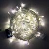 Светодиодная гирлянда Rich LED Нить 10 м, 24В, постоянного свечения, белый провод, Желтая 2