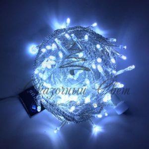 Светодиодная гирлянда Rich LED Нить 10 м, 24В, постоянного свечения, соединяемая, прозрачный провод, Белая
