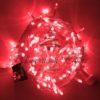 Светодиодная гирлянда Rich LED Нить 10 м, 24В, постоянного свечения, соединяемая, черный провод, Фиолетовая 1