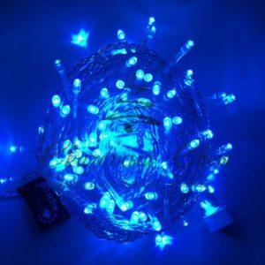 Светодиодная гирлянда Rich LED Нить 10 м, 24В, постоянного свечения, соединяемая, прозрачный провод, Синяя