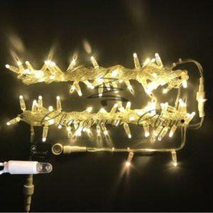 Светодиодная гирлянда Rich LED Нить 10 м, 24В, герметичный колпачок, IP65, постоянного свечения, соединяемая, белый провод, Тепло-белая