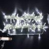 Светодиодная гирлянда Rich LED Нить 10 м, 24В, постоянного свечения, соединяемая, прозрачный провод, Зеленая 1