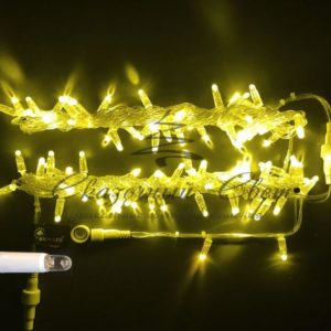 Светодиодная гирлянда Rich LED Нить 10 м, 24В, герметичный колпачок, IP65, постоянного свечения, соединяемая, белый провод, Желтая