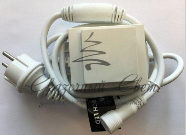Трансформатор 220/24 В , усиленная влагозащита IP65, герметичный, 60 Вт, шнур подключения с выпрямителем тока 1.5 м., белый