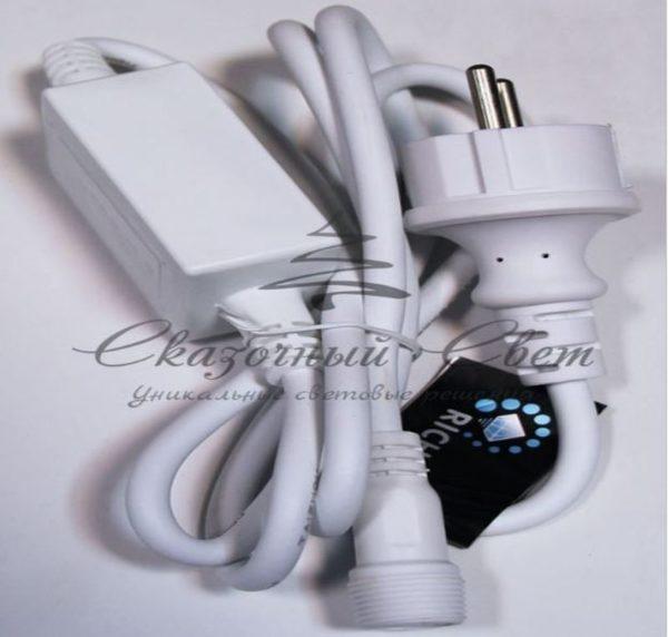 Блок питания для МЕРЦАЮЩИХ изделий Rich LED. 2А. Для соединения до 10 шт., белый