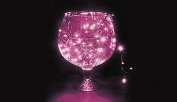 """Гирлянда """"Твинкл Лайт"""" 10 м, черный ПВХ, 100 диодов, цвет фиолетовый"""