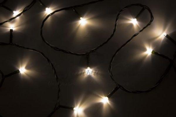 """Гирлянда """"Твинкл Лайт"""" 15 м, темно-зеленый ПВХ, 120 LED, цвет теплый белый"""
