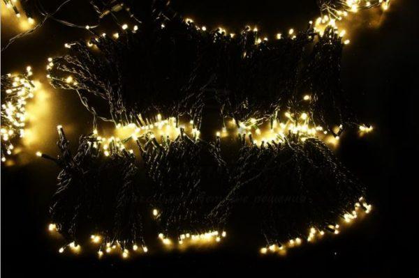 """Гирлянда """"LED ClipLight"""" 24V, 5 нитей по 20 метров, цвет диодов Теплый Белый"""
