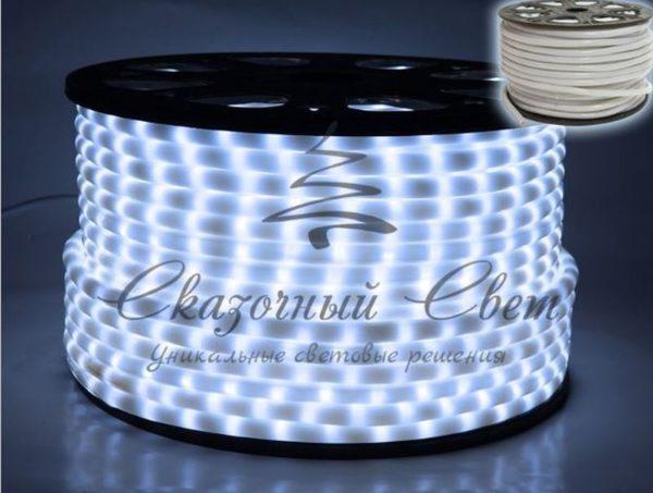 Светодиодный дюралайт Rich Led 2-х проводной, молочный матовый, 13 мм, белый